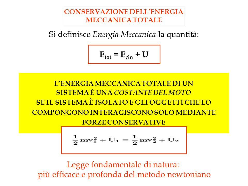 Si definisce Energia Meccanica la quantità: