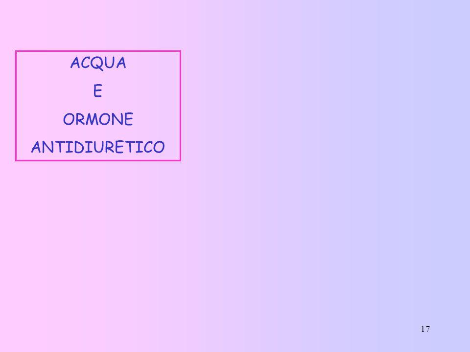 ACQUA E ORMONE ANTIDIURETICO
