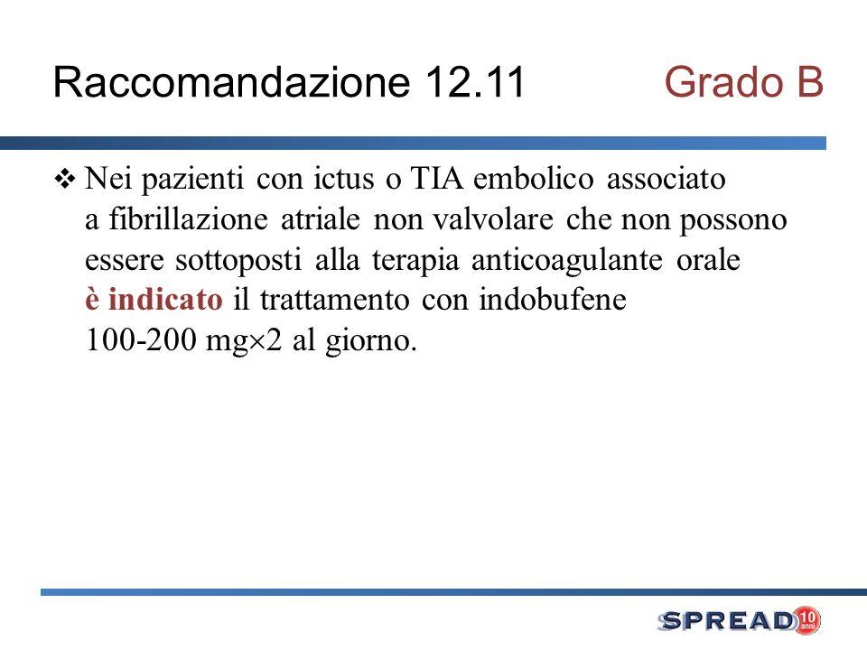 Raccomandazione 12.11 Grado B