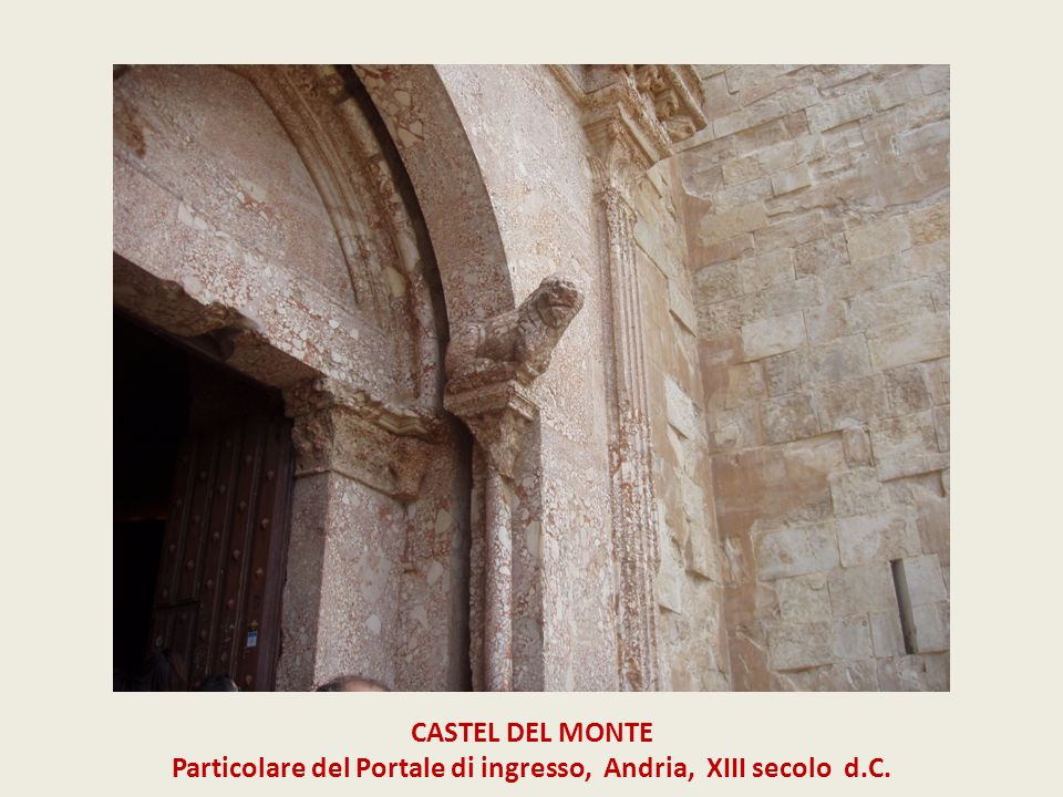 Particolare del Portale di ingresso, Andria, XIII secolo d.C.
