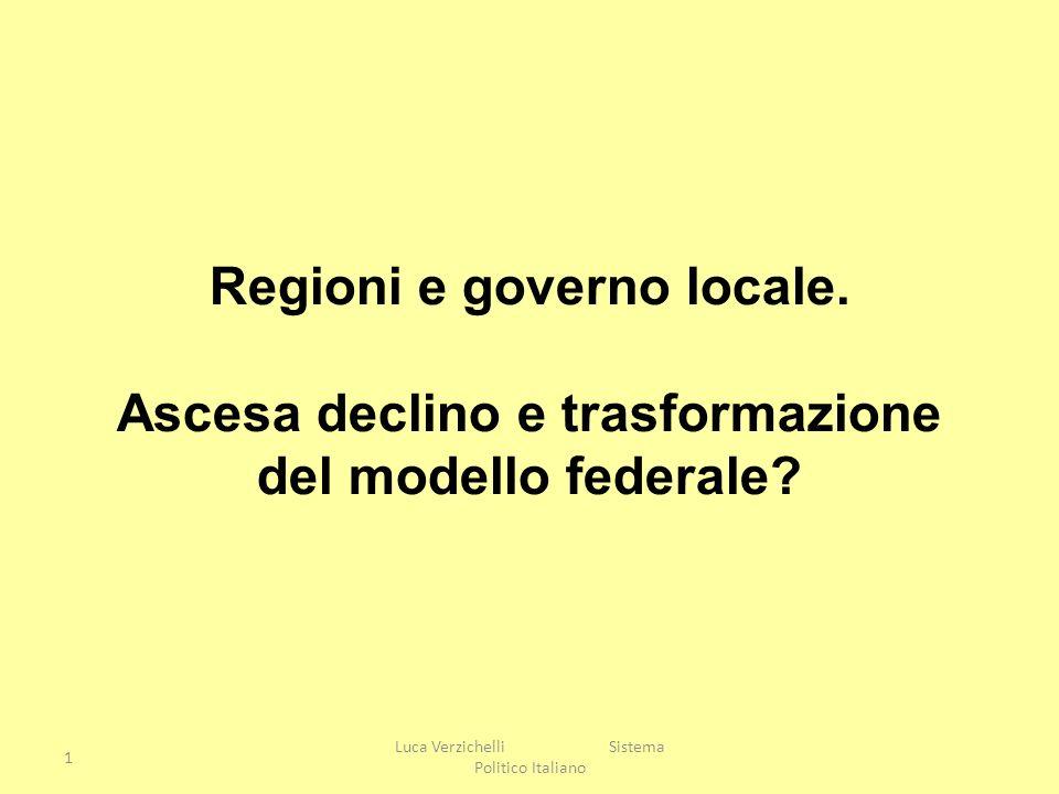 Regioni e governo locale. Ascesa declino e trasformazione