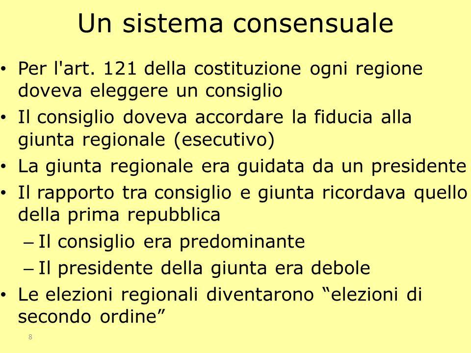Un sistema consensuale