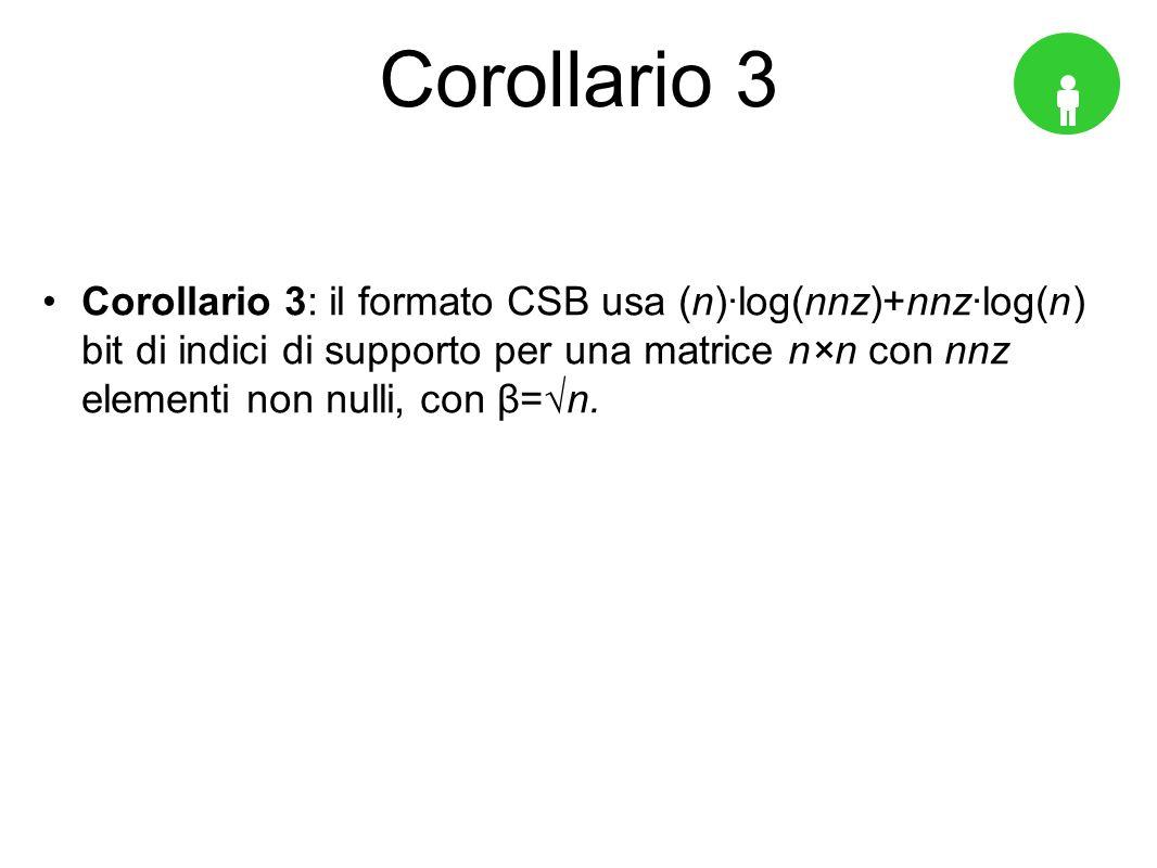 Corollario 3