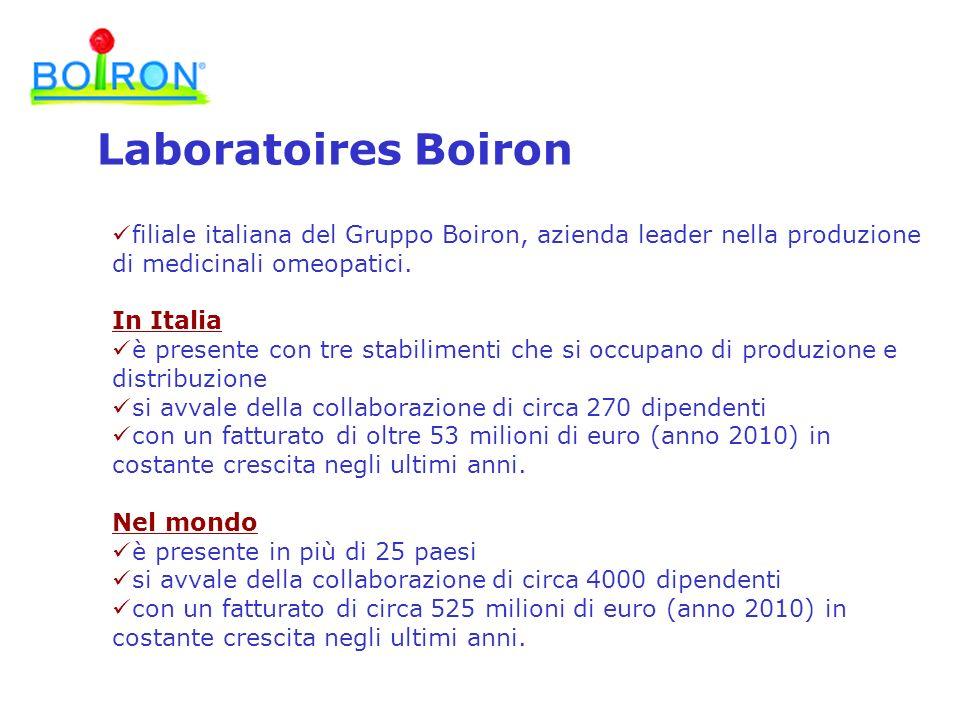 Laboratoires Boiron filiale italiana del Gruppo Boiron, azienda leader nella produzione di medicinali omeopatici.