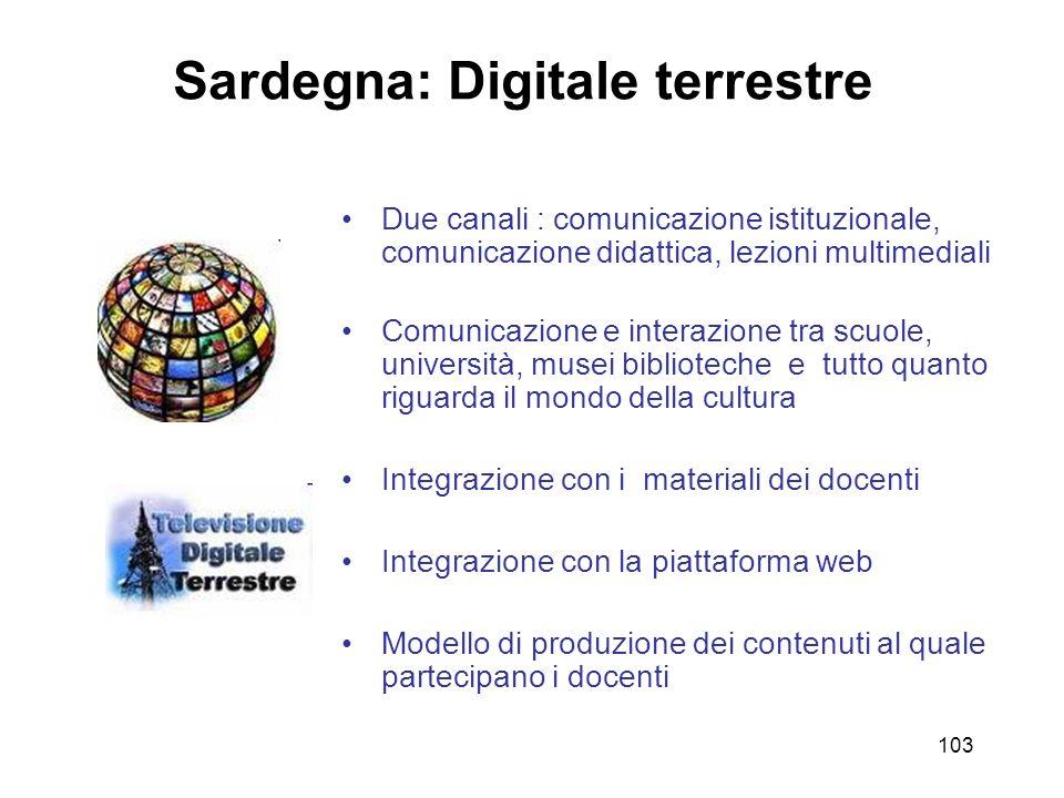 Sardegna: Digitale terrestre