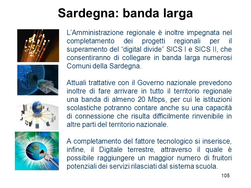 Sardegna: banda larga