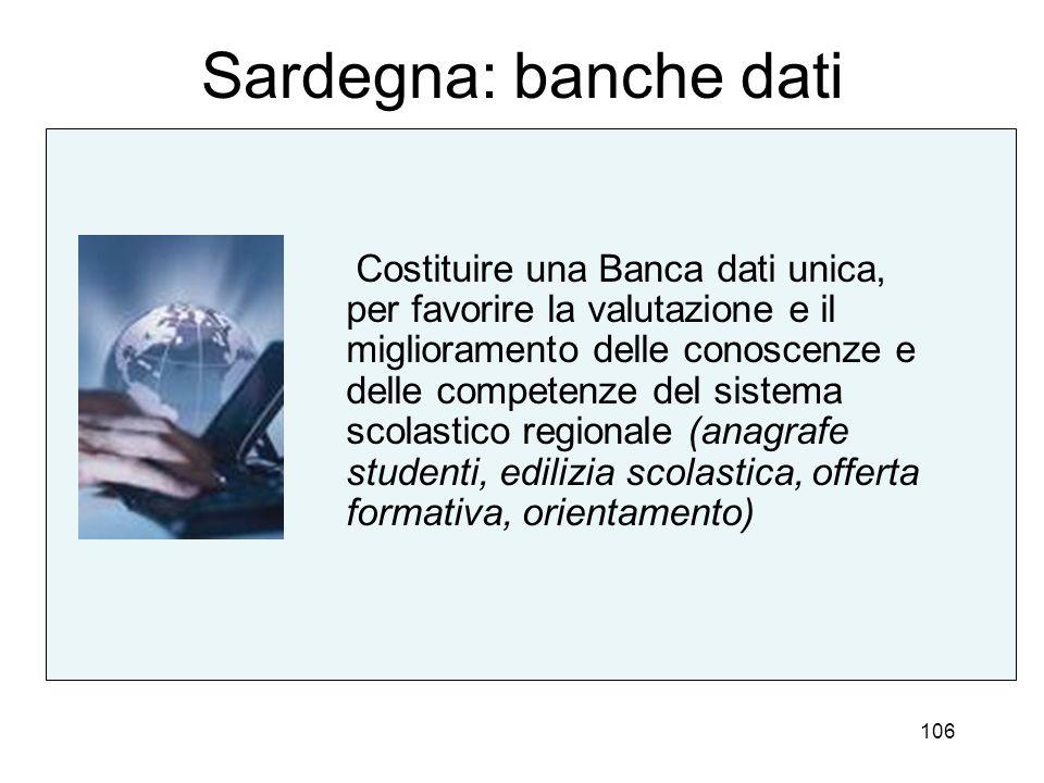 Sardegna: banche dati