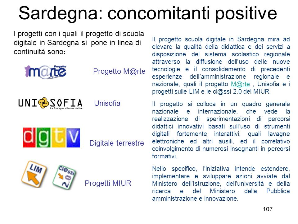 Sardegna: concomitanti positive