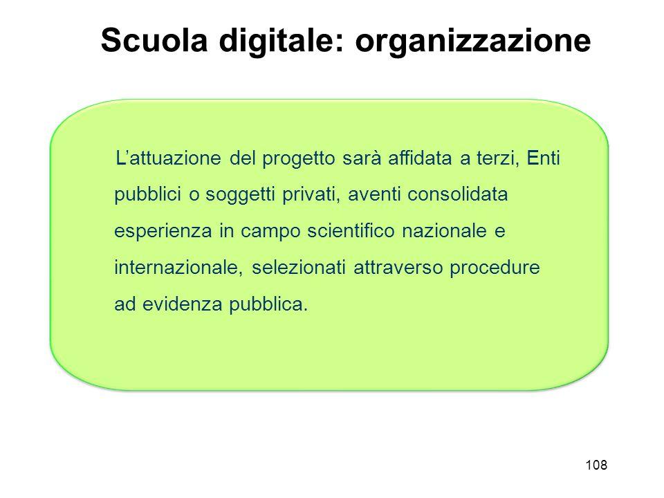 Scuola digitale: organizzazione