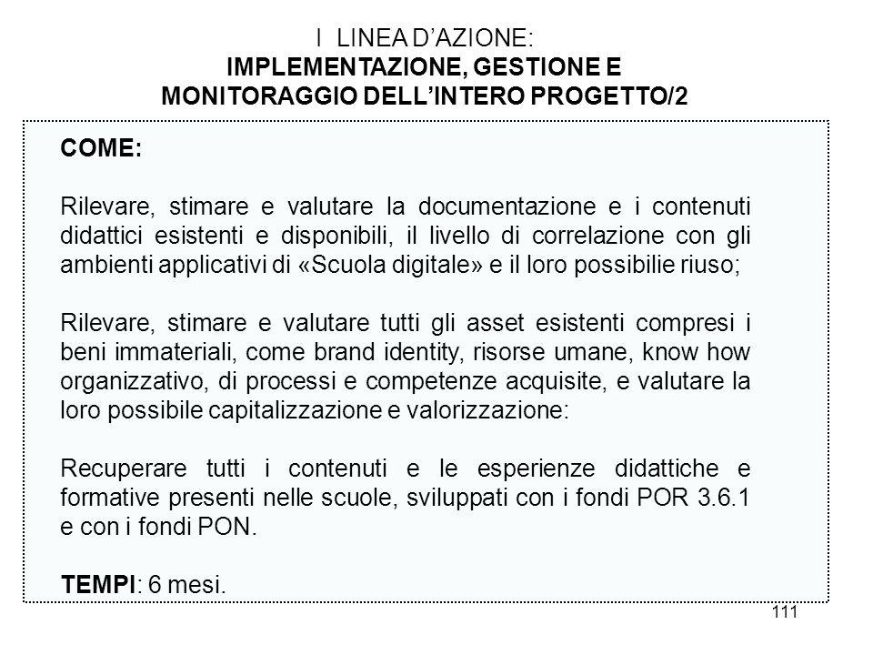 IMPLEMENTAZIONE, GESTIONE E MONITORAGGIO DELL'INTERO PROGETTO/2