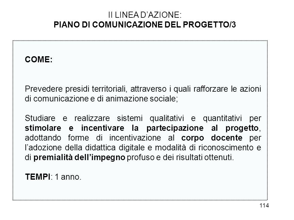 PIANO DI COMUNICAZIONE DEL PROGETTO/3