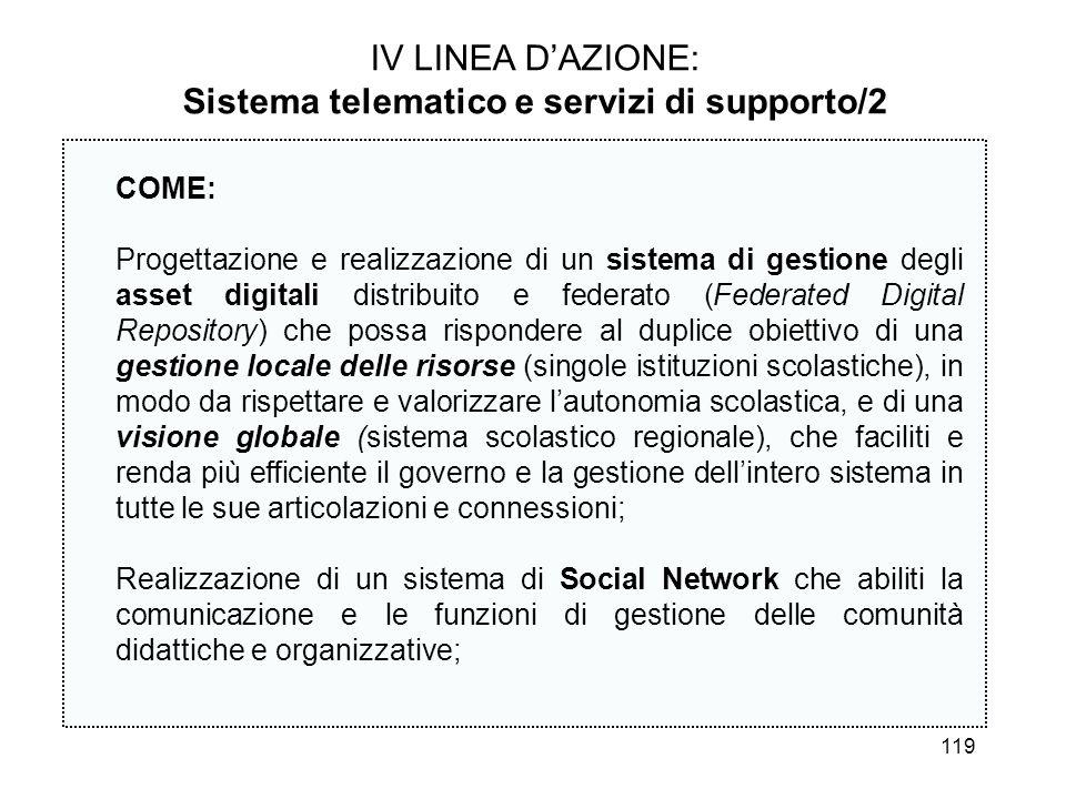 Sistema telematico e servizi di supporto/2