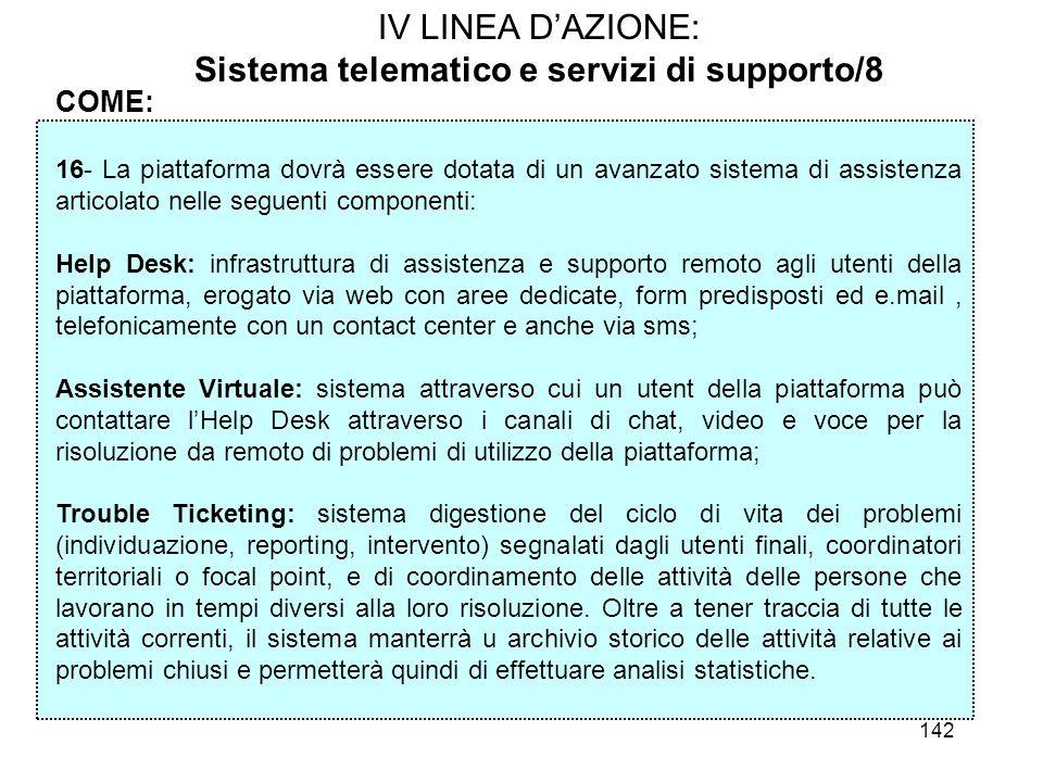 Sistema telematico e servizi di supporto/8