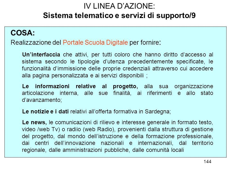 Sistema telematico e servizi di supporto/9