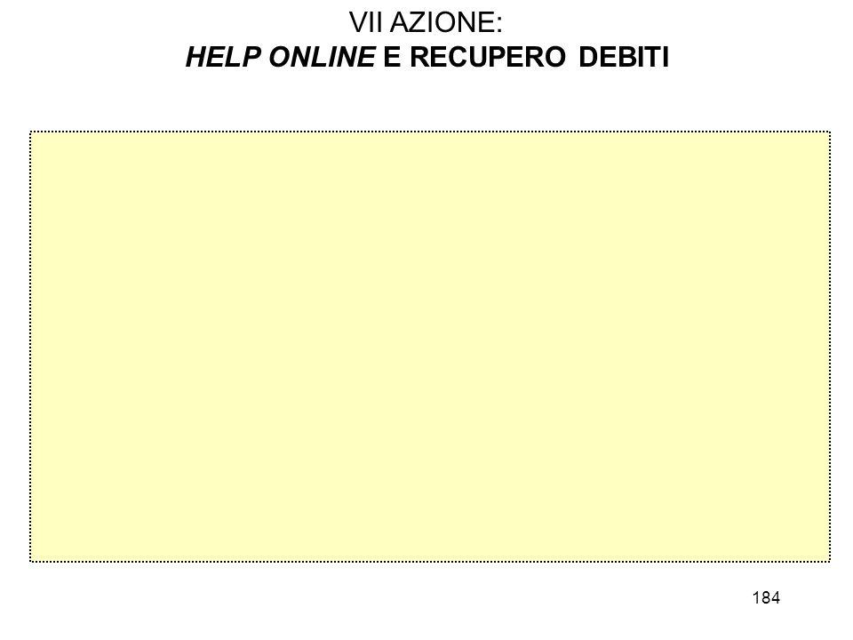 HELP ONLINE E RECUPERO DEBITI