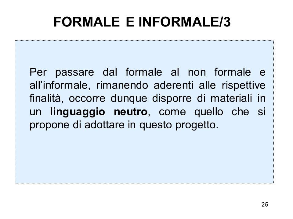 FORMALE E INFORMALE/3