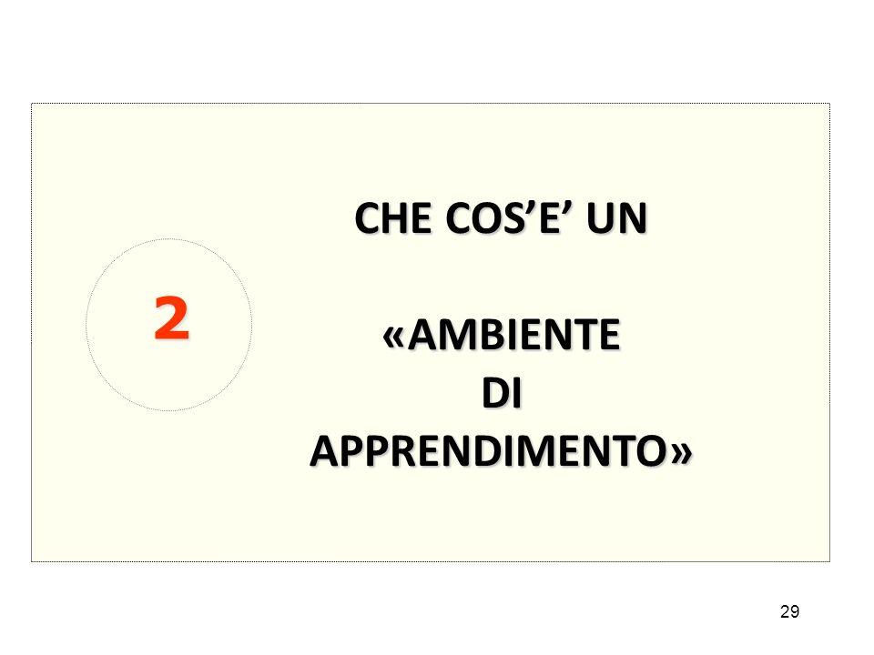 CHE COS'E' UN «AMBIENTE DI APPRENDIMENTO» 2