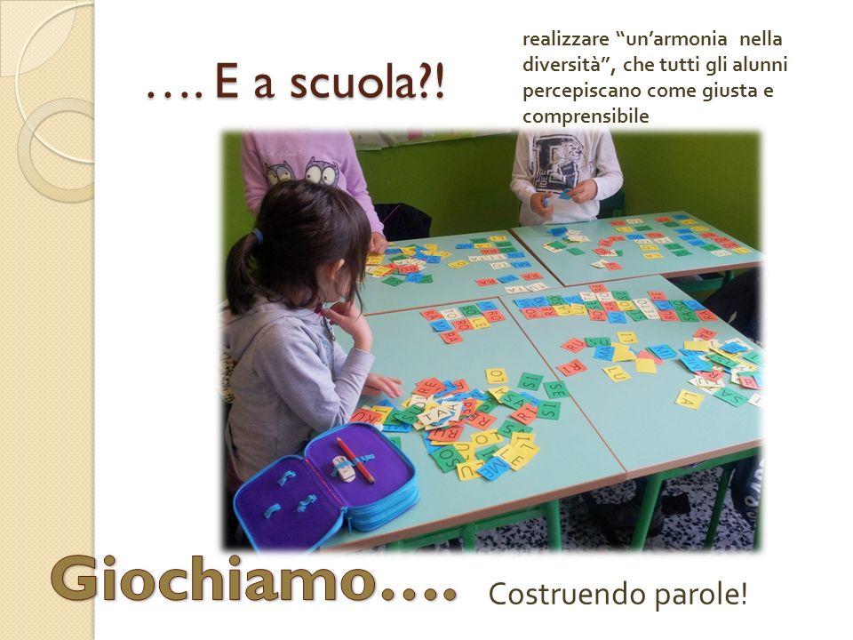 Giochiamo…. …. E a scuola ! Costruendo parole!