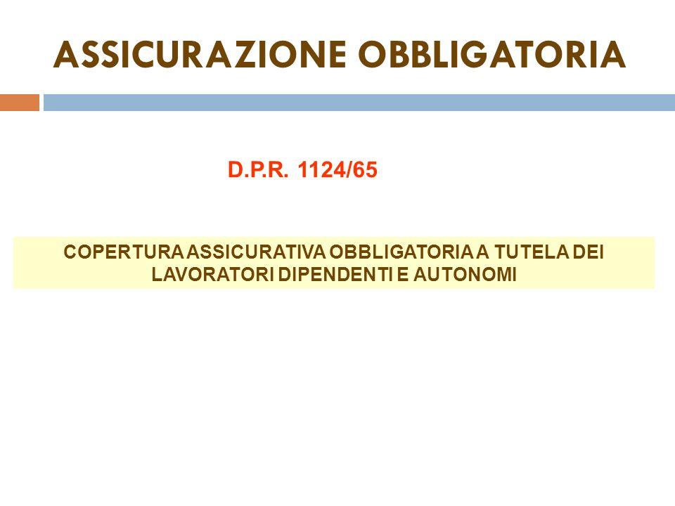 ASSICURAZIONE OBBLIGATORIA