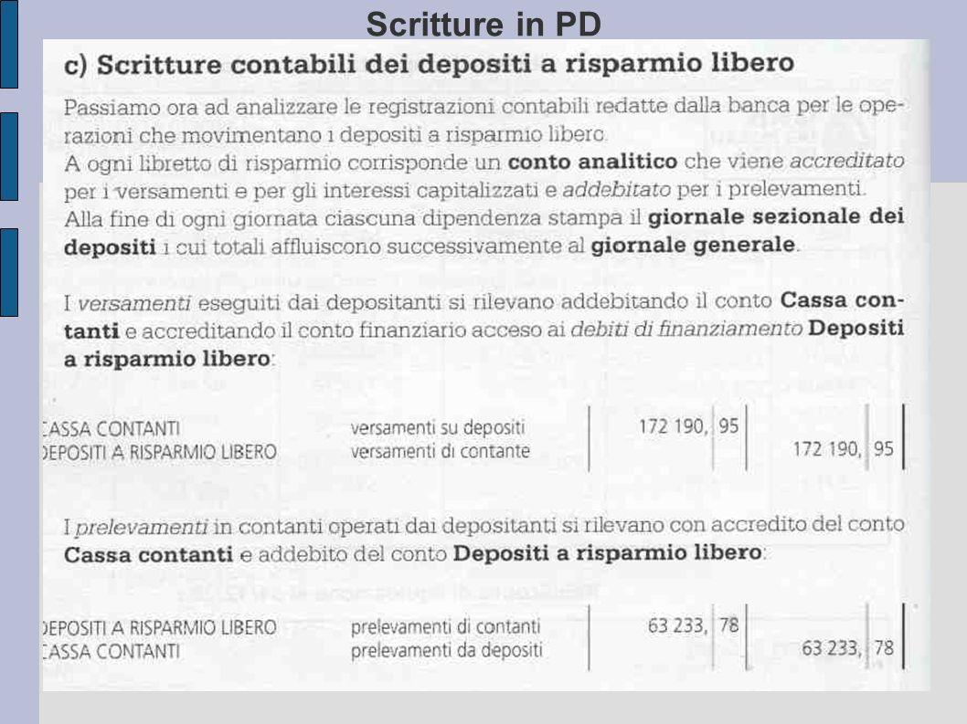 Scritture in PD