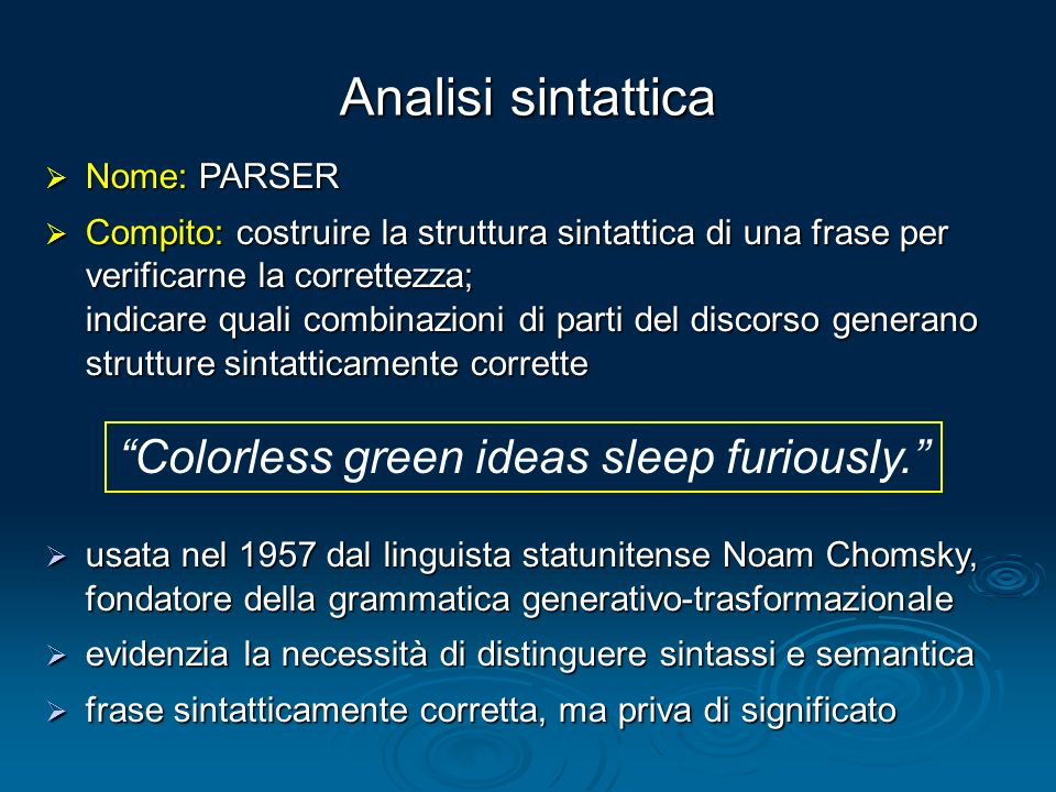 Colorless green ideas sleep furiously.