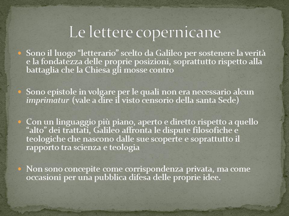 Le lettere copernicane