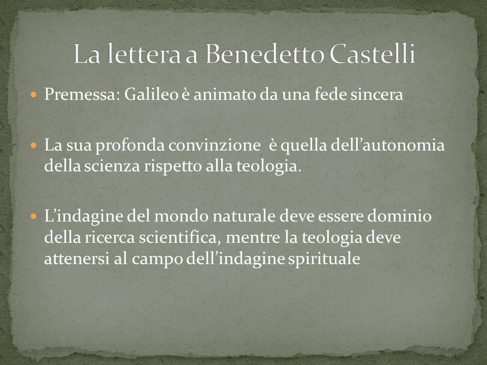 La lettera a Benedetto Castelli