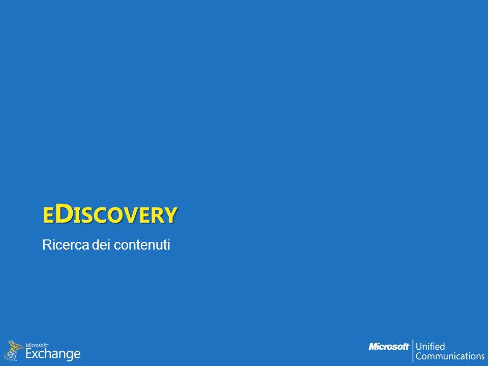 eDiscovery Ricerca dei contenuti