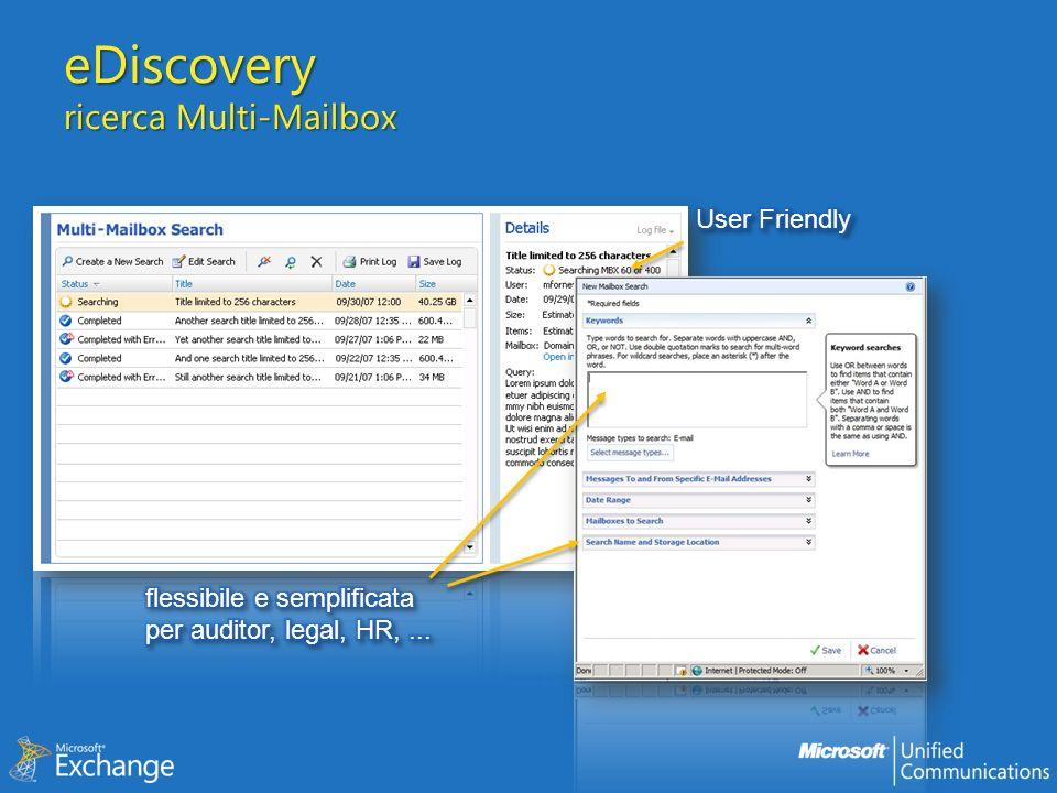eDiscovery ricerca Multi-Mailbox