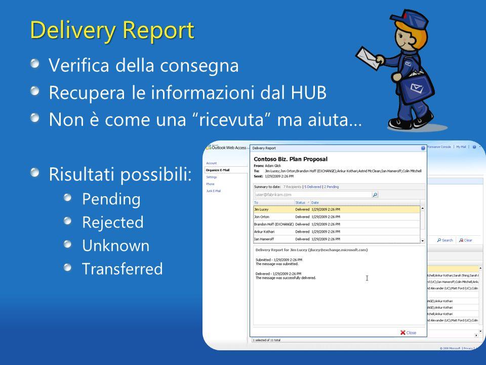 Delivery Report Verifica della consegna