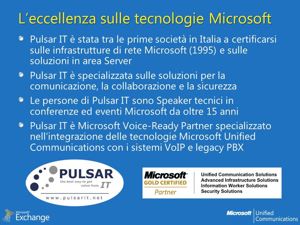 L'eccellenza sulle tecnologie Microsoft