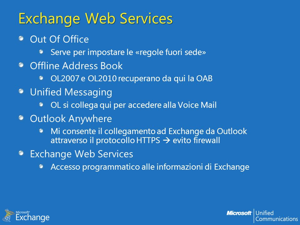 Exchange Web Services Out Of Office Offline Address Book