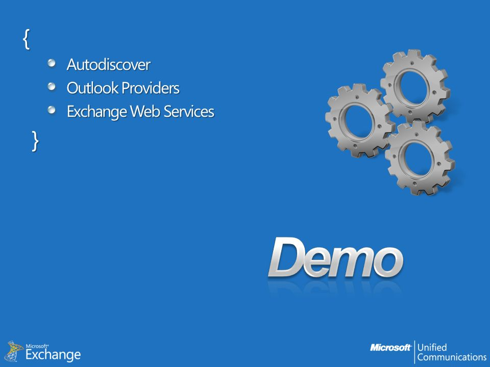 { Autodiscover Outlook Providers Exchange Web Services } Demo