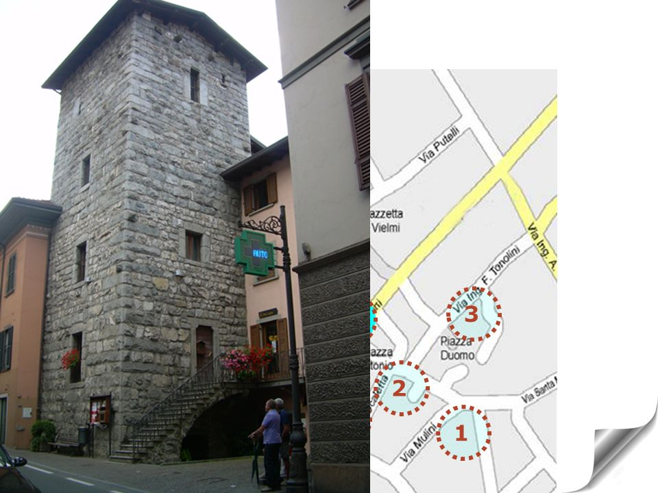 7 TOWER OF VIA MAZZINI medieval period 5 6 3 7 2 4 1