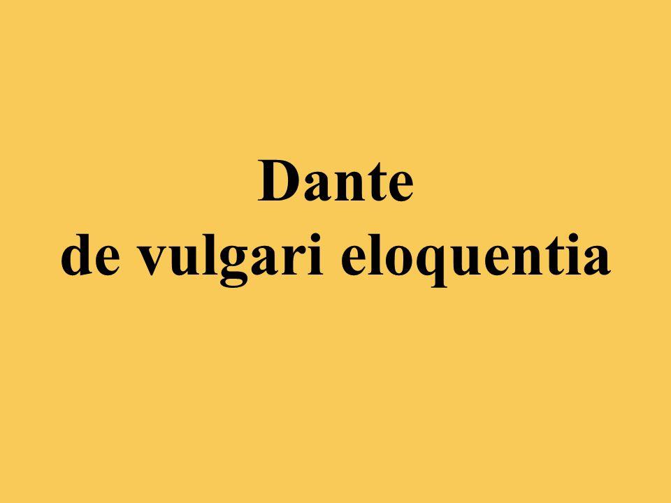 Dante de vulgari eloquentia