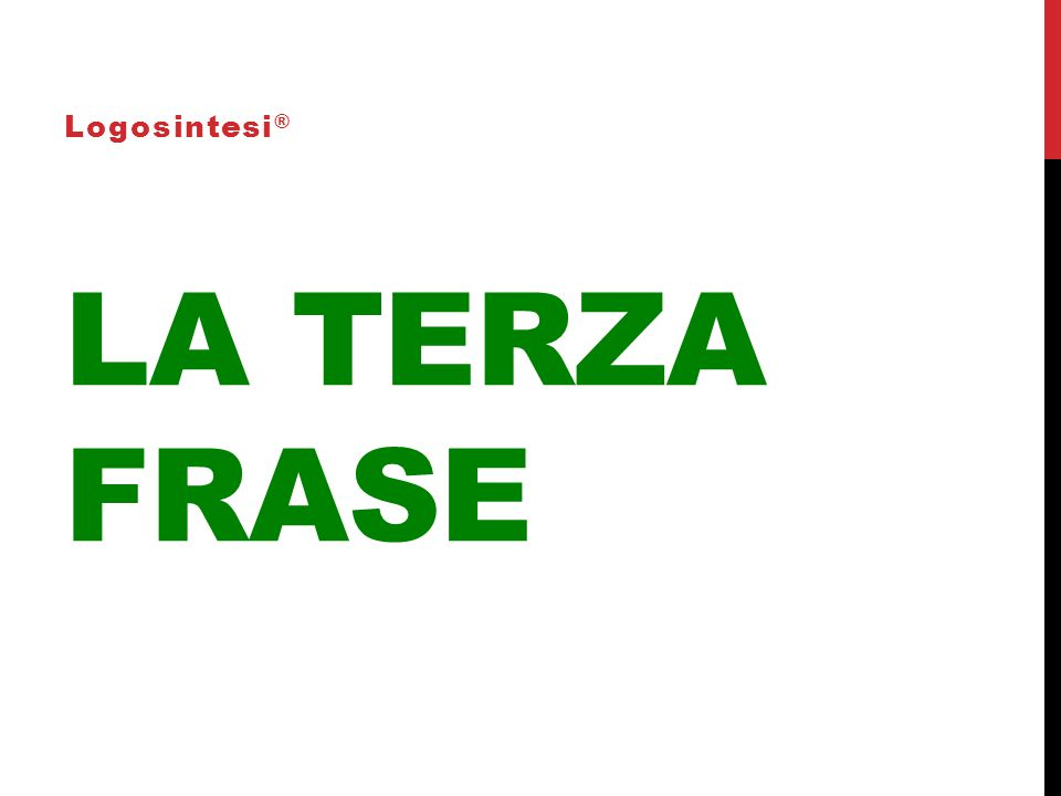 Logosintesi® La terza frase