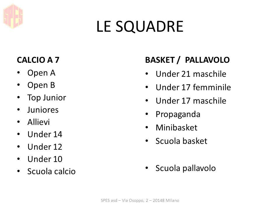 SPES asd – Via Osoppo, 2 – 20148 Milano
