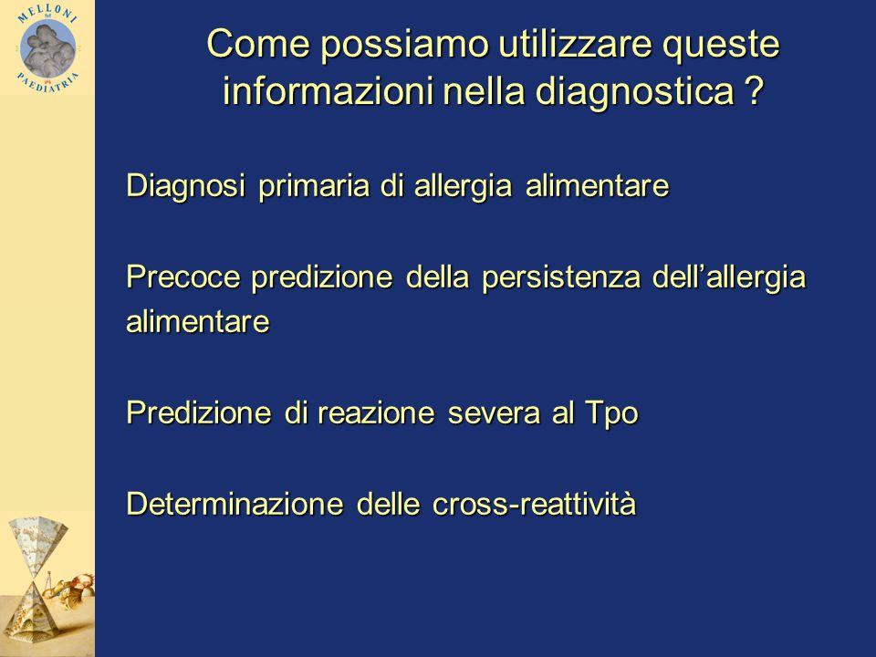 Come possiamo utilizzare queste informazioni nella diagnostica