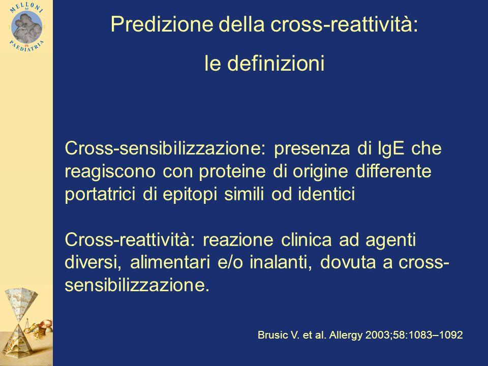 Predizione della cross-reattività: