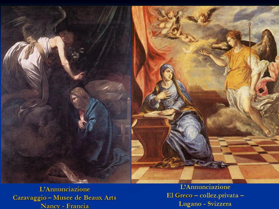 L'Annunciazione Caravaggio – Musee de Beaux Arts Nancy - Francia