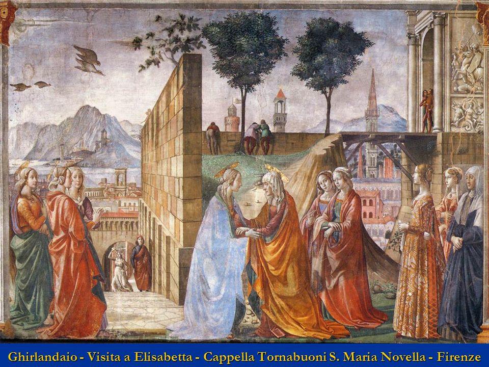 Ghirlandaio - Visita a Elisabetta - Cappella Tornabuoni S