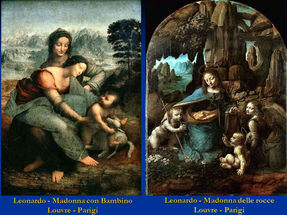 Leonardo - Madonna con Bambino Louvre - Parigi