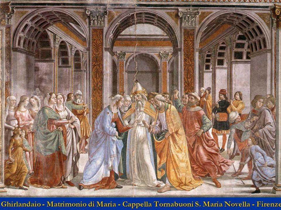 Ghirlandaio - Matrimonio di Maria - Cappella Tornabuoni S