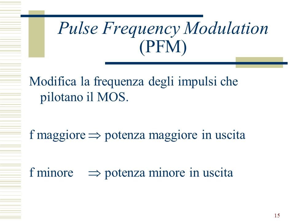Pulse Frequency Modulation (PFM)