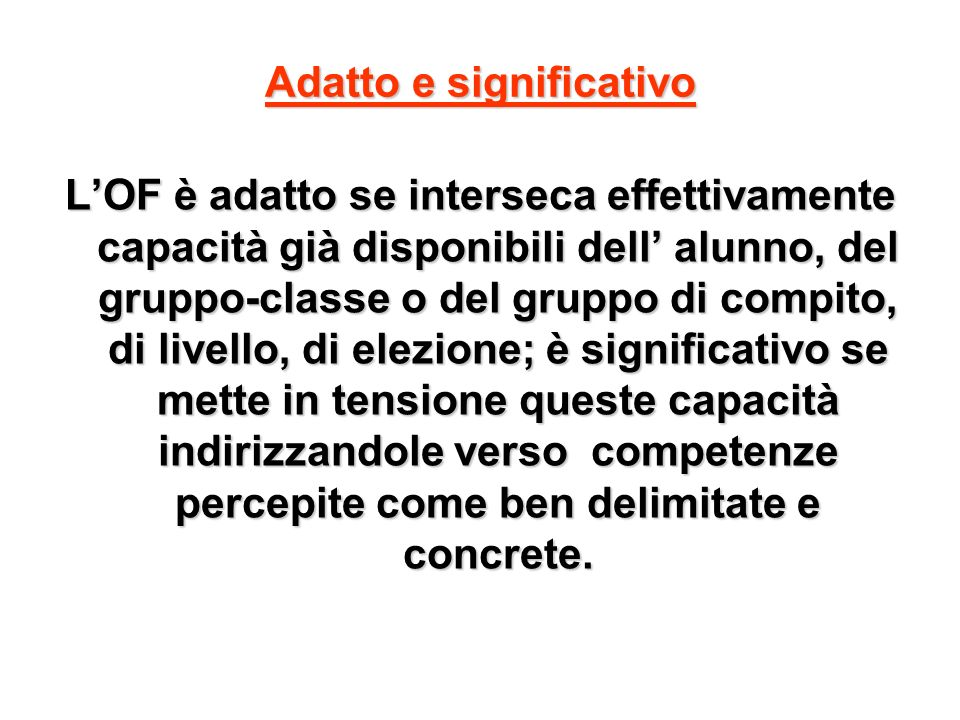 Adatto e significativo
