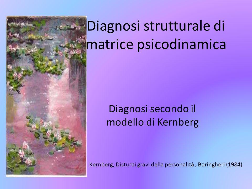 Diagnosi strutturale di matrice psicodinamica