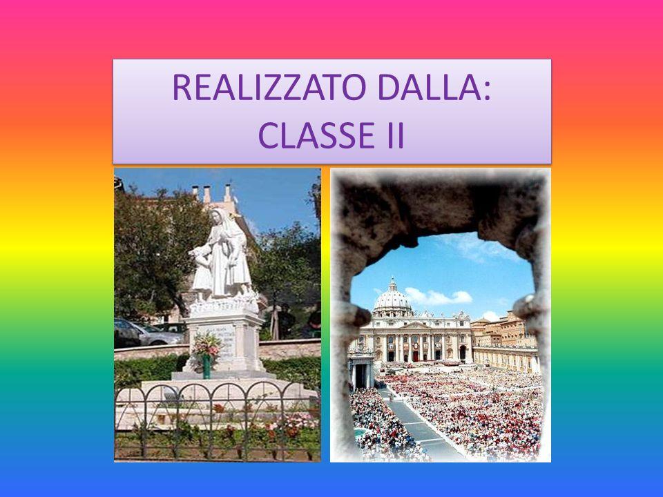 REALIZZATO DALLA: CLASSE II