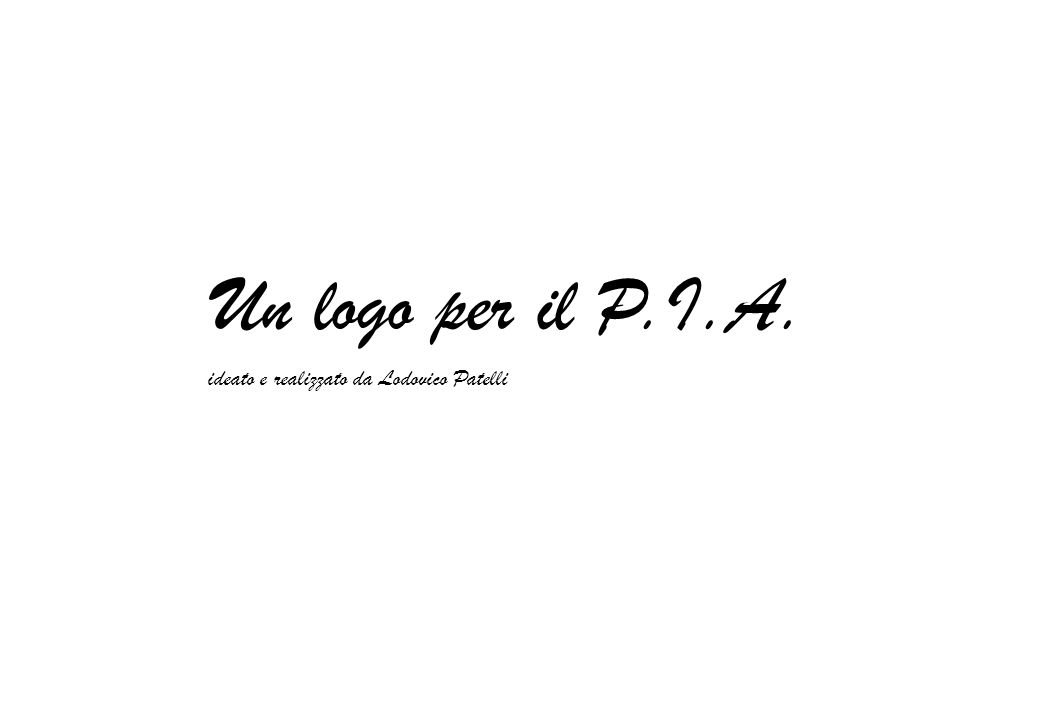 Un logo per il P.I.A. ideato e realizzato da Lodovico Patelli