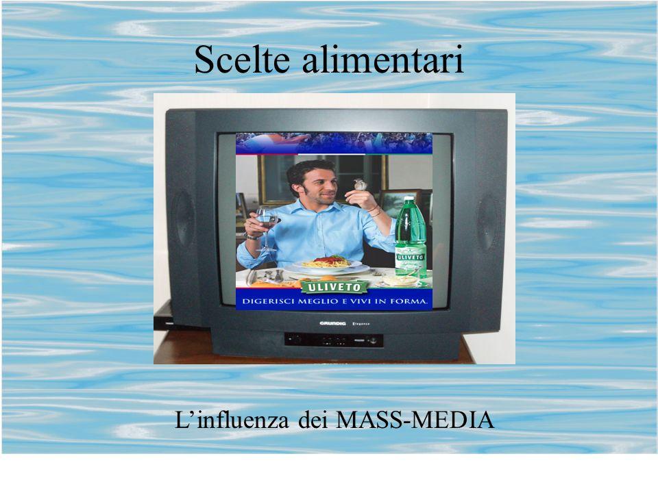 Scelte alimentari L'influenza dei MASS-MEDIA