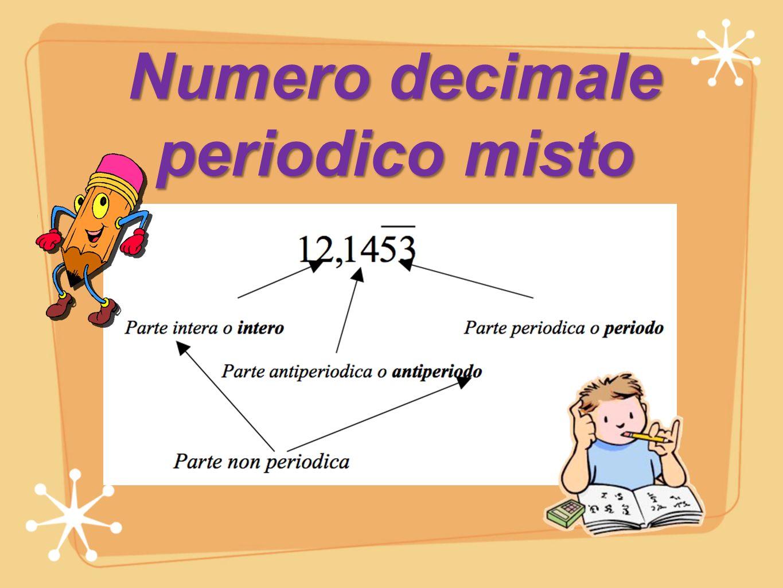Numero decimale periodico misto